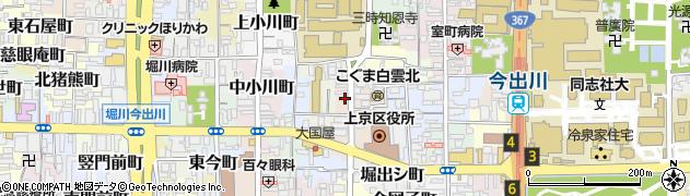 京都府京都市上京区元新在家町周辺の地図