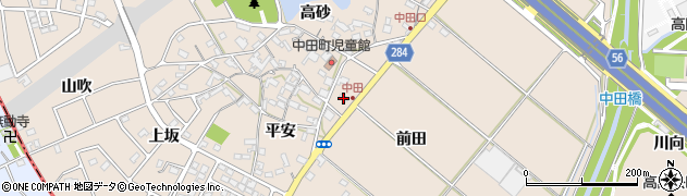 愛知県豊田市中田町(前田)周辺の地図