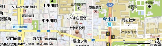 京都府京都市上京区畠山町周辺の地図