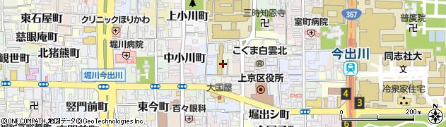 京都府京都市上京区元本満寺町周辺の地図