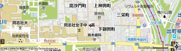 京都府京都市上京区下塔之段町周辺の地図