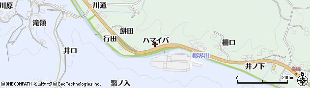愛知県豊田市花沢町(ハマイバ)周辺の地図
