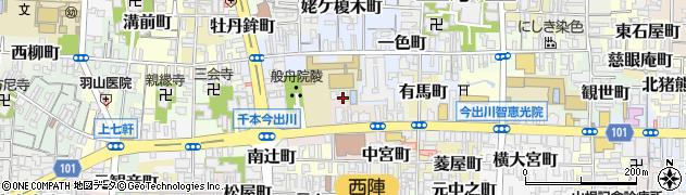 般舟院周辺の地図