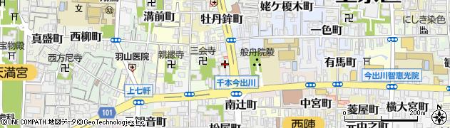 京都府京都市上京区上善寺町周辺の地図