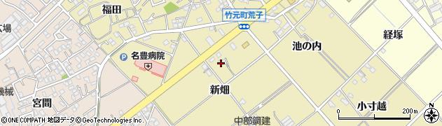 愛知県豊田市竹元町(新畑)周辺の地図