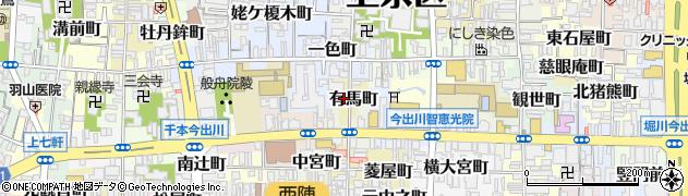 京都府京都市上京区有馬町周辺の地図
