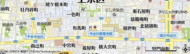 京都府京都市上京区桜井町周辺の地図