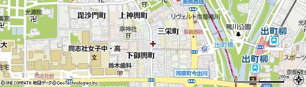 京都府京都市上京区表町周辺の地図