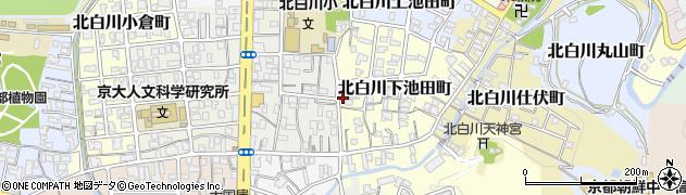 京都府京都市左京区北白川下池田町周辺の地図
