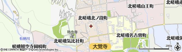 京都府京都市右京区北嵯峨北ノ段町周辺の地図