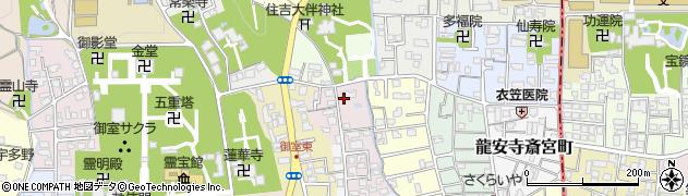 京都府京都市右京区龍安寺玉津芝町周辺の地図