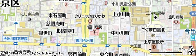 京都府京都市上京区実相院町周辺の地図