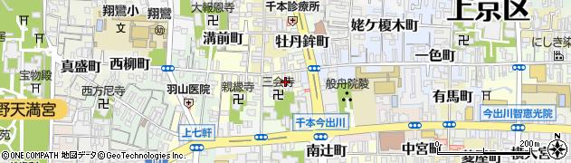 京都府京都市上京区風呂屋町周辺の地図