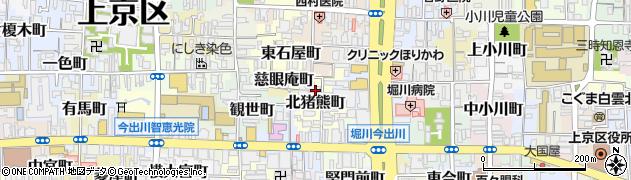 京都府京都市上京区北猪熊町周辺の地図