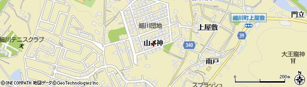 愛知県岡崎市細川町(山ノ神)周辺の地図