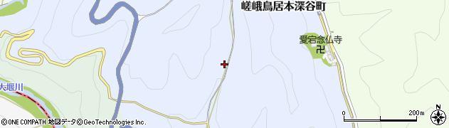 京都府京都市右京区嵯峨鳥居本深谷町周辺の地図
