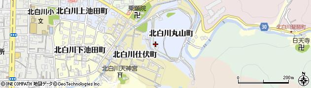 京都府京都市左京区北白川丸山町周辺の地図