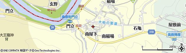 愛知県岡崎市桑原町(南屋下)周辺の地図