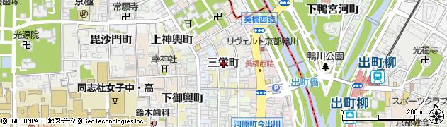 京都府京都市上京区三栄町周辺の地図