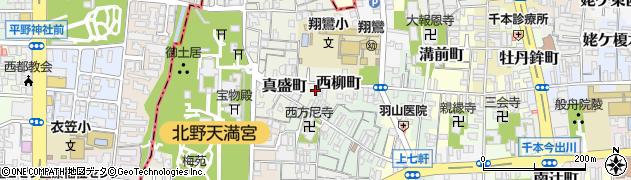 京都府京都市上京区西柳町周辺の地図