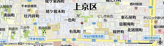 京都府京都市上京区五辻町周辺の地図