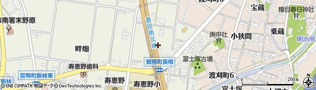 愛知県豊田市鴛鴨町(長根)周辺の地図