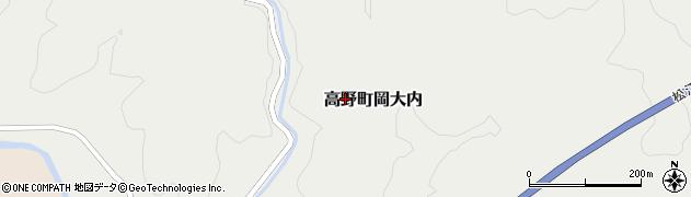 広島県庄原市高野町岡大内周辺の地図