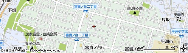 愛知県東海市富貴ノ台周辺の地図