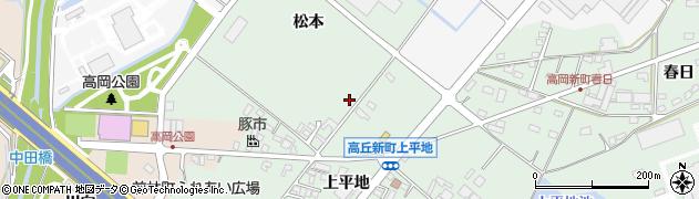 愛知県豊田市高丘新町(松本)周辺の地図