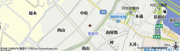 愛知県豊田市西田町周辺の地図