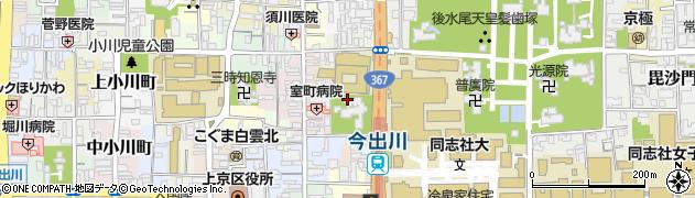 京都府京都市上京区御所八幡町周辺の地図