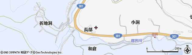 愛知県豊田市大沼町(長部)周辺の地図