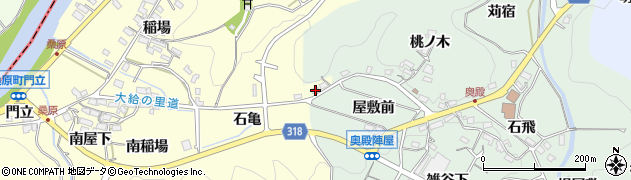 愛知県岡崎市桑原町(石亀)周辺の地図