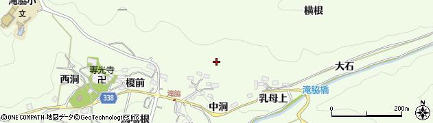 愛知県豊田市滝脇町(中洞)周辺の地図