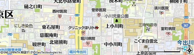 京都府京都市上京区水落町周辺の地図
