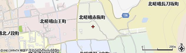 京都府京都市右京区北嵯峨赤阪町周辺の地図