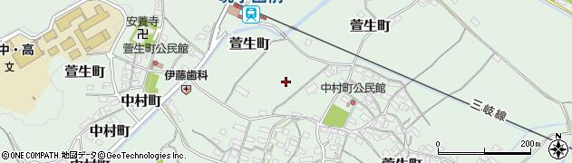 三重県四日市市中村町周辺の地図
