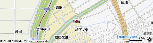 愛知県刈谷市泉田町(絵城)周辺の地図