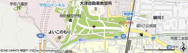 滋賀県大津市神宮町周辺の地図