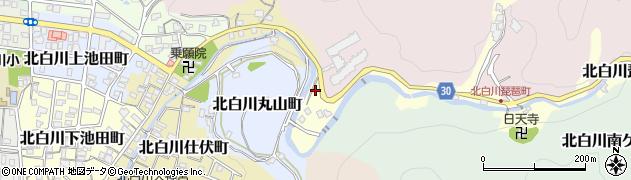 京都府京都市左京区北白川琵琶町周辺の地図