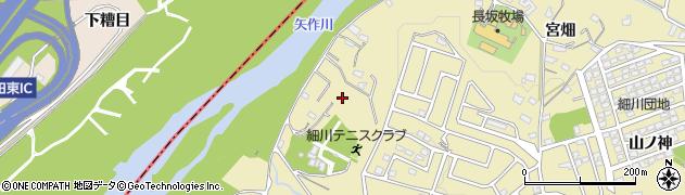 愛知県岡崎市細川町(権水)周辺の地図