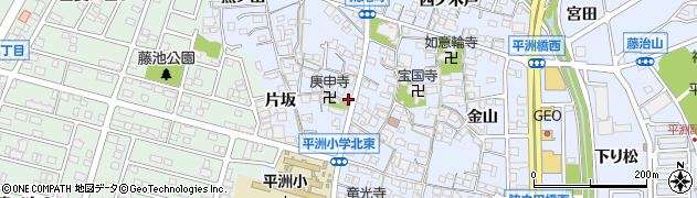 愛知県東海市荒尾町(中屋敷)周辺の地図