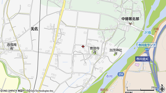 〒679-2335 兵庫県神崎郡市川町美佐の地図
