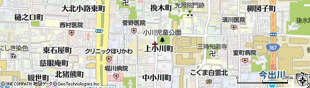 京都府京都市上京区上小川町周辺の地図