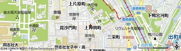 京都府京都市上京区上神輿町周辺の地図