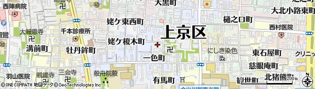 京都府京都市上京区杉若町周辺の地図