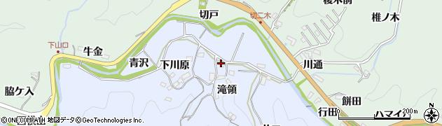 愛知県豊田市下山田代町(滝領)周辺の地図