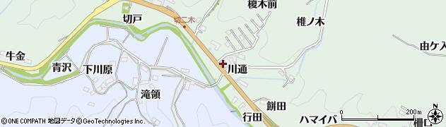 愛知県豊田市花沢町(川通)周辺の地図