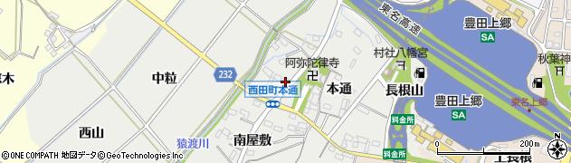 愛知県豊田市西田町(本通)周辺の地図
