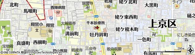 京都府京都市上京区牡丹鉾町周辺の地図